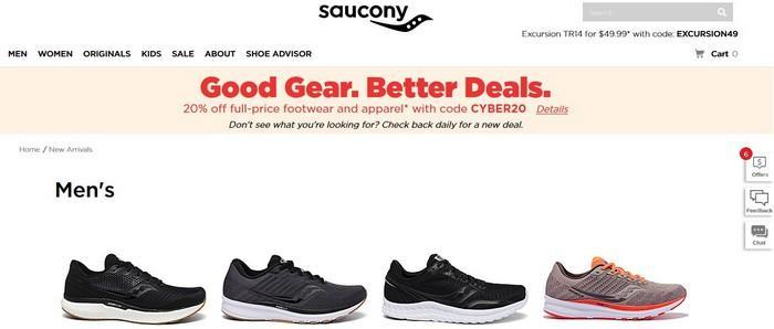 Бренд кроссовок Saucony, фото