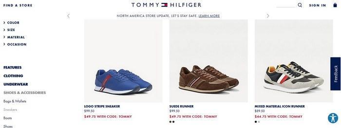 Бренд кроссовок Tommy Hilfiger, фото