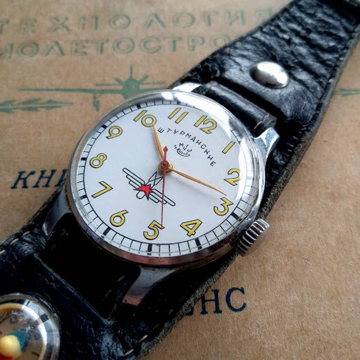Часы с ремешком Штурманским, фото