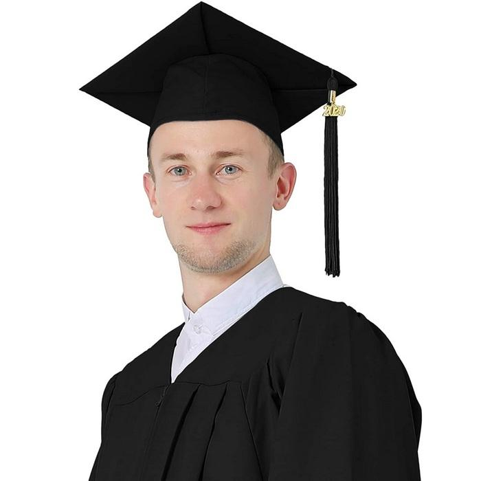 Головной убор, квадратная академическая шапочка для мужчин, фото