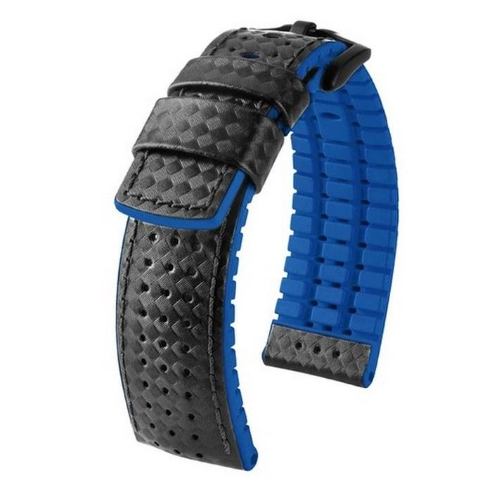 Комбинированные ремешки для часов из каучука и карбона, фото