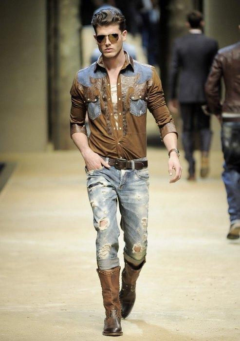 Мужская одежда в стиле кантри, фото