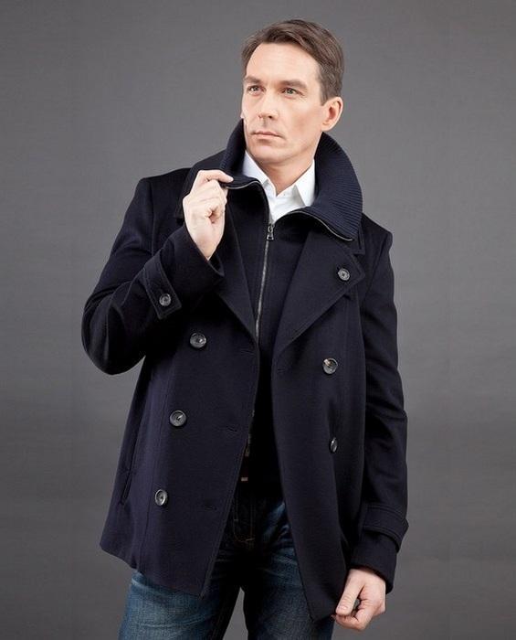 Пальто бушлат для мужчин, фото