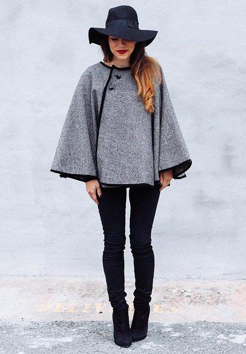 Пальто пончо для женщин, фото