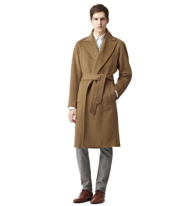Пальто с запахом для мужчин, фото