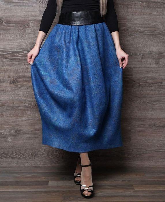 Валяная юбка-баллон женская, фото