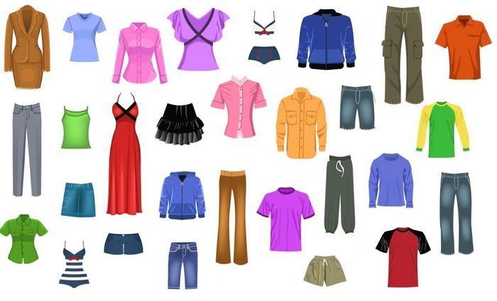 Все виды одежды, фото