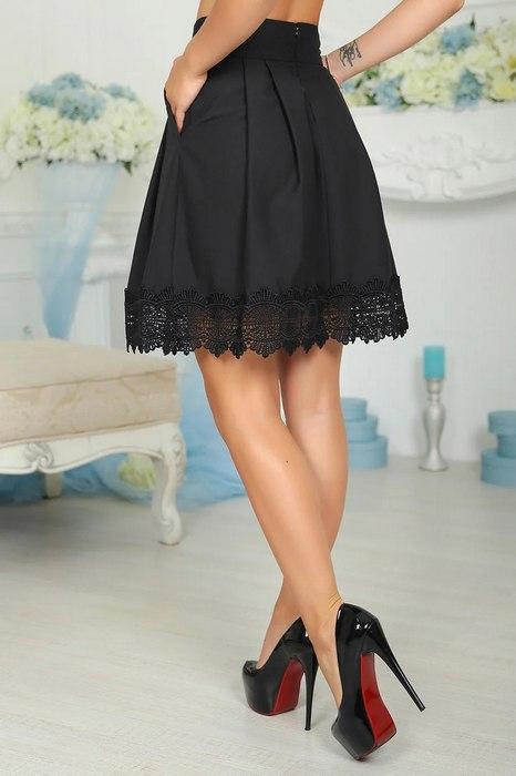 Женская юбка клеш, фото