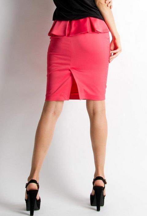 Женская юбка с баской, фото