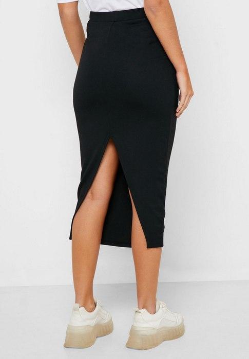 Женская юбка с разрезами, фото