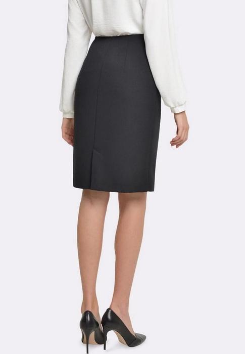 Женская юбка со шлицей, фото