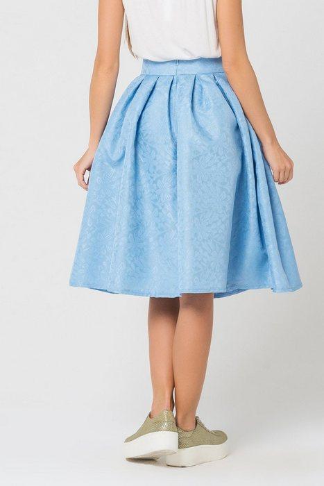 Женская юбка со складками, фото