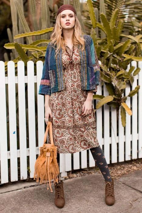 Женская одежда в стиле бохо, фото