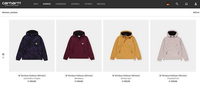 Женские зимние куртки Carhartt, фото