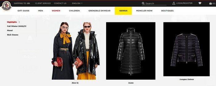 Женские зимние куртки Moncler, фото