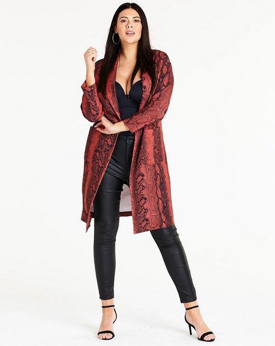 Женское пальто дастер, фото