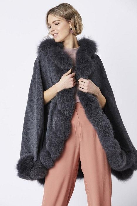 Женское пальто кейп, фото