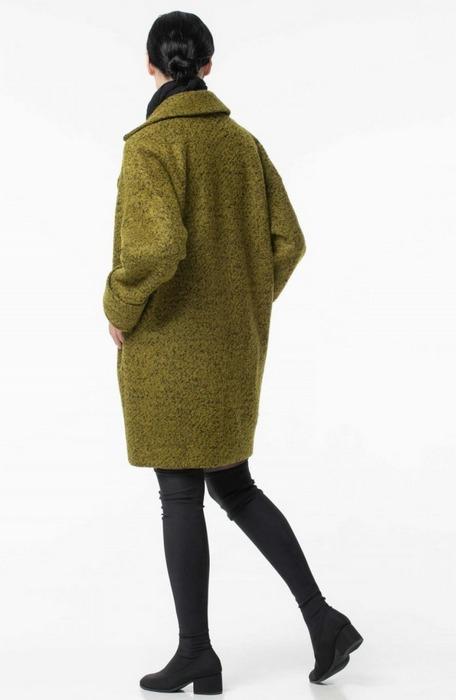 Женское пальто кокон, фото