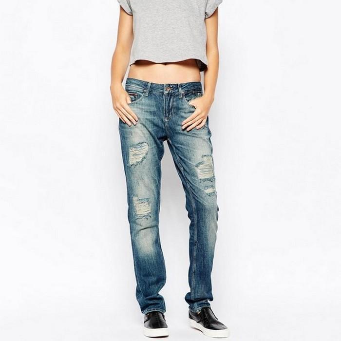 Вид джинсов Boyfriend для женщин, фото