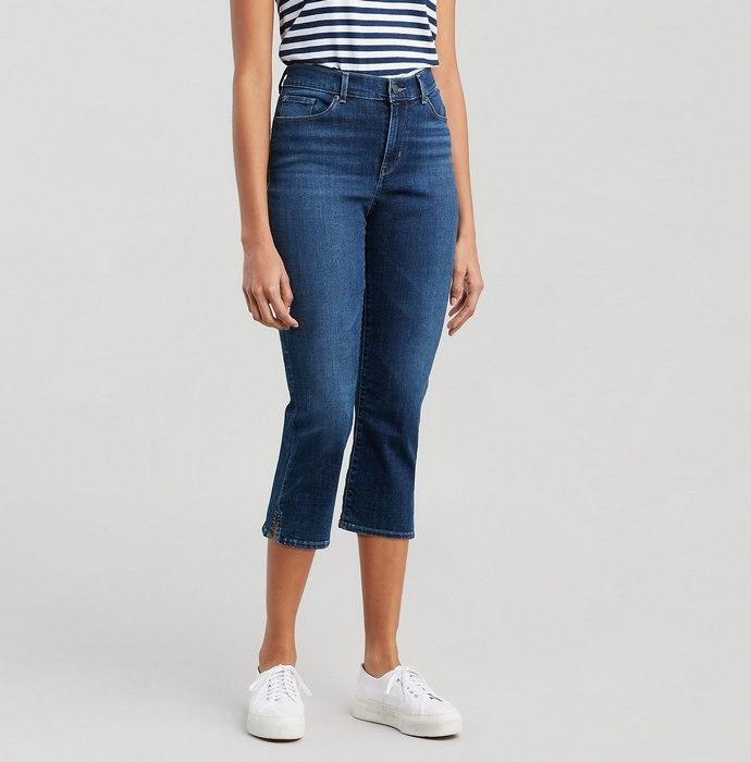 Вид джинсов Capris для женщин, фото