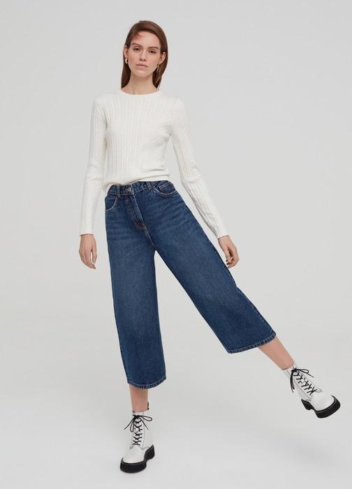 Вид джинсов Кюлоты для женщин, фото
